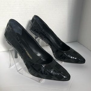 Gianmarco Lorenzi Black Leather and Suede Shoes